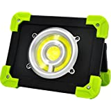 20W Cordless Portable Work Lights Power LED and COB LED Stand Rechargeable Site Lamp for Outdoor, Garage, Painters, 2000 Lumen 3pcs 2000mAh 18650 Battery and USB Cable Included