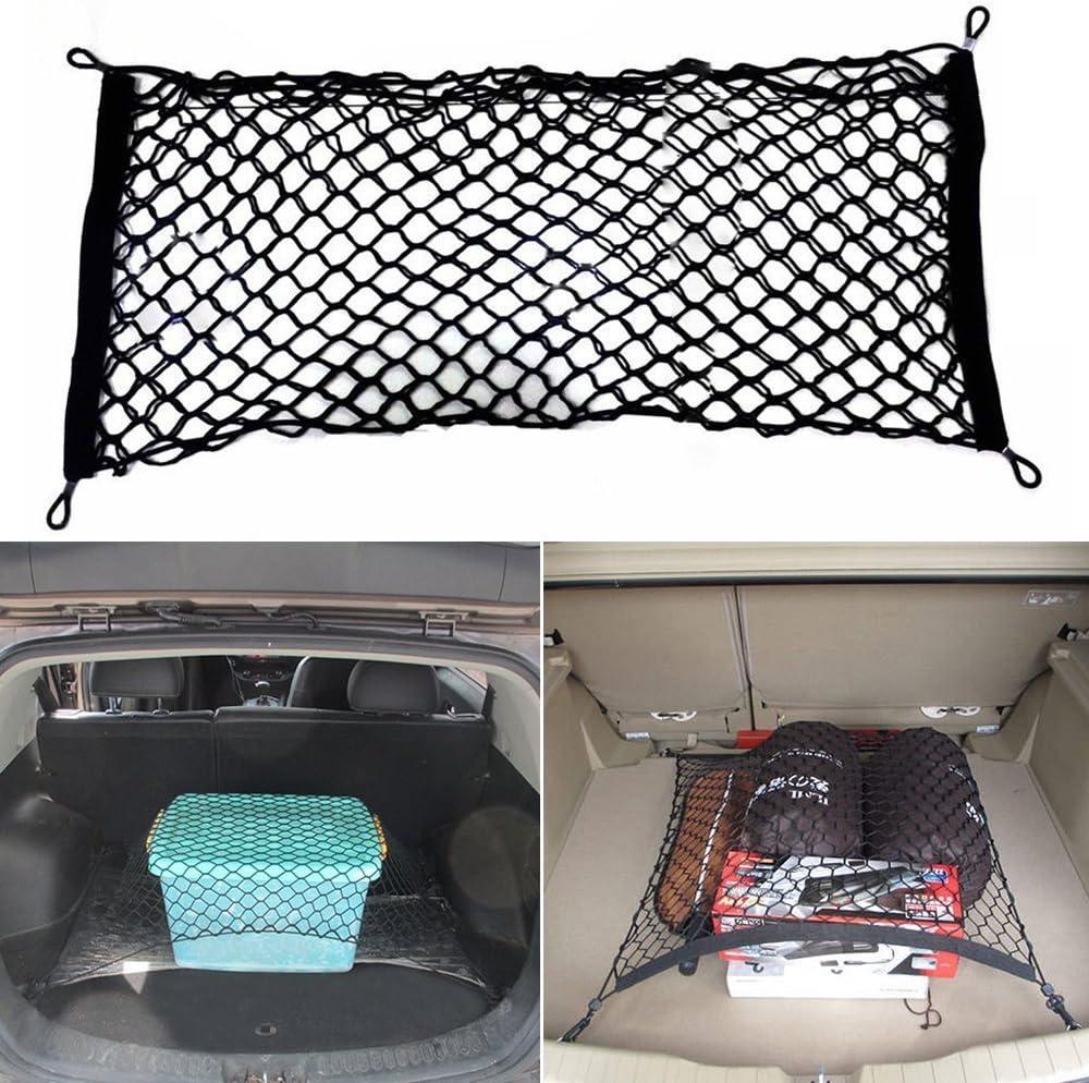 /Coche accesorios red 70/cm x 70/cm bodhi2000/4/ganchos Universal coche tronco carga Organizador de almacenamiento de malla Net/ /Red de coche para equipaje infantil/