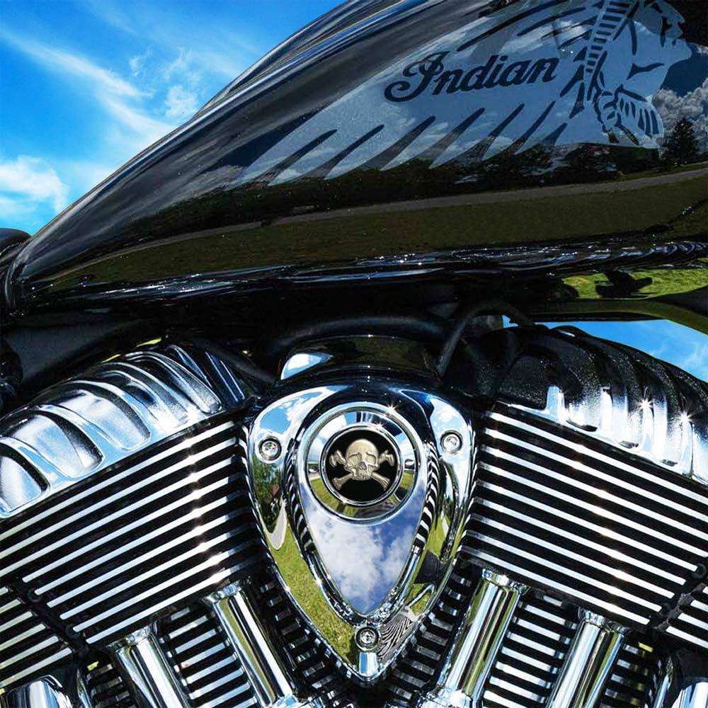 MotorDog69 Skull and Crossbones Harley Horn Cover Coin Mount Set/… /…