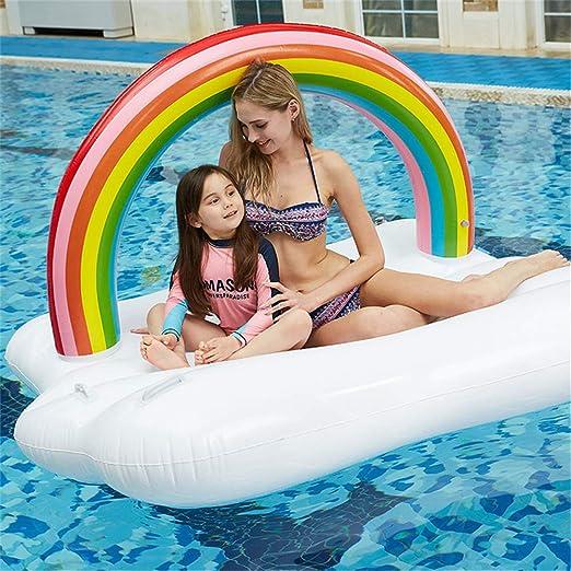 Shopps Balsa de Flotador de Piscina Inflable Gigante del Arco Iris ...