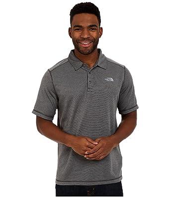 15b818450 Men's The North Face Short-sleeve Horizon Polo Asphalt Grey Stripe Size  Small