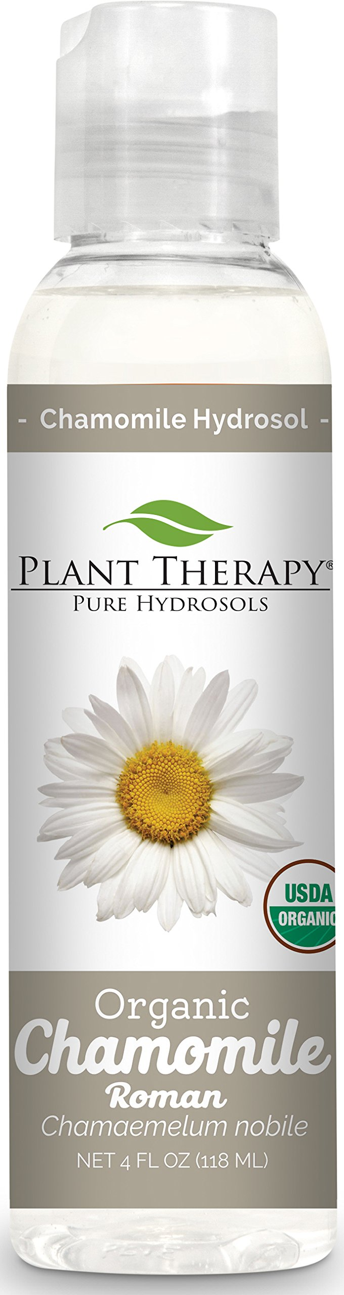 Plant Therapy Organic Roman Chamomile Hydrosol. (Flower Water, Floral Water, Hydrolats, Distillates) Bi-Product of Essential Oils. 4 Ounce.