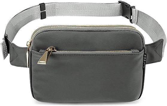Hip Purse Grey Belt Bag Flat Fanny Pack or Travel Wallet Money Belt Waist Bag Bum Bag