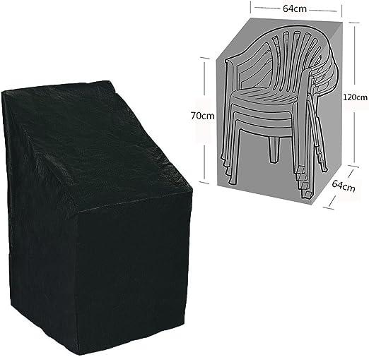 dDanke - Funda Impermeable para Silla de jardín (64 x 120 x 70 cm), Color Negro: Amazon.es: Jardín