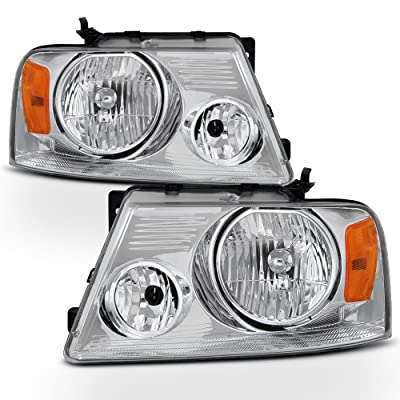 ACANII - For 2004 2005 2006 2007 2008 Ford F-150 F150 Pickup Truck Headlights Headlamps Pair Set Driver+Passenger Side: Automotive