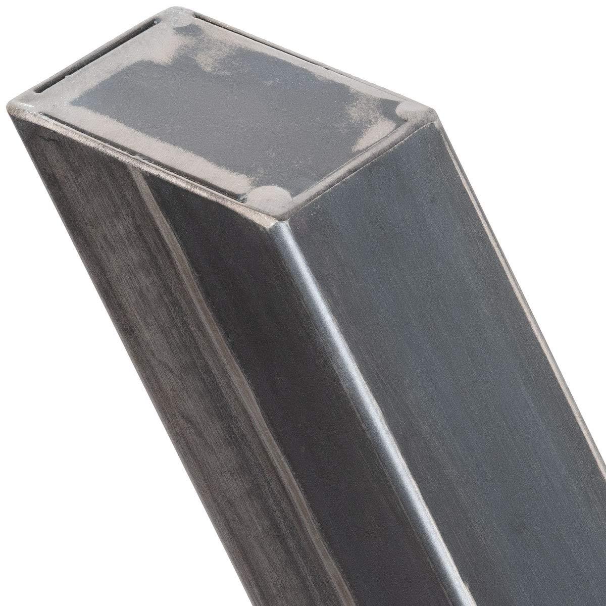 Gris Antracita HLT-03-G-EE-7016 HOLZBRINK 1x Pata de Mesa en Forma de X Perfiles de Acero 60x60 mm Tama/ño 70x72 cm