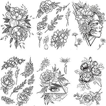 Tatuajes Temporales Adultos Mujer Niñas Temporary Tattoo Uerpo ...