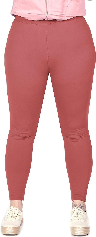 1 Inch Waist Soft Plus Size Leggings for Women OCOMMO Womens Plus Size Leggings