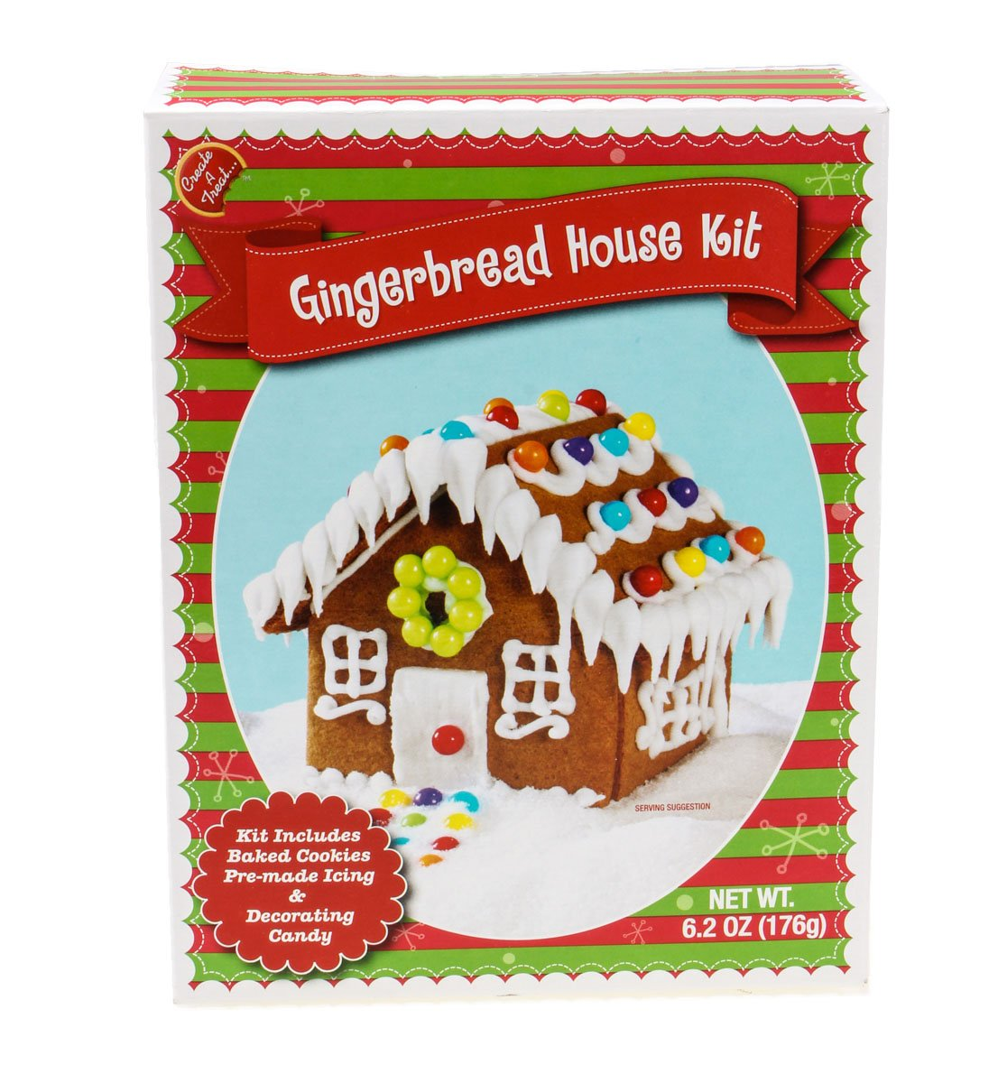 Premade Gingerbread Houses Amazoncom Make Your Own Mini Gingerbread House Kit From Create
