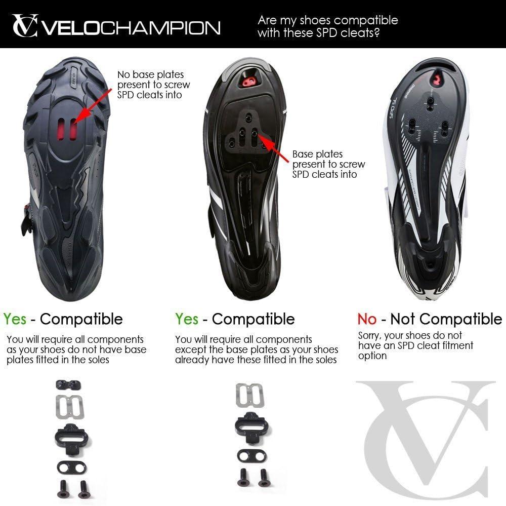 Velochampion - Cleats Shimano Spd Tacos de Sujecion Pedal ...