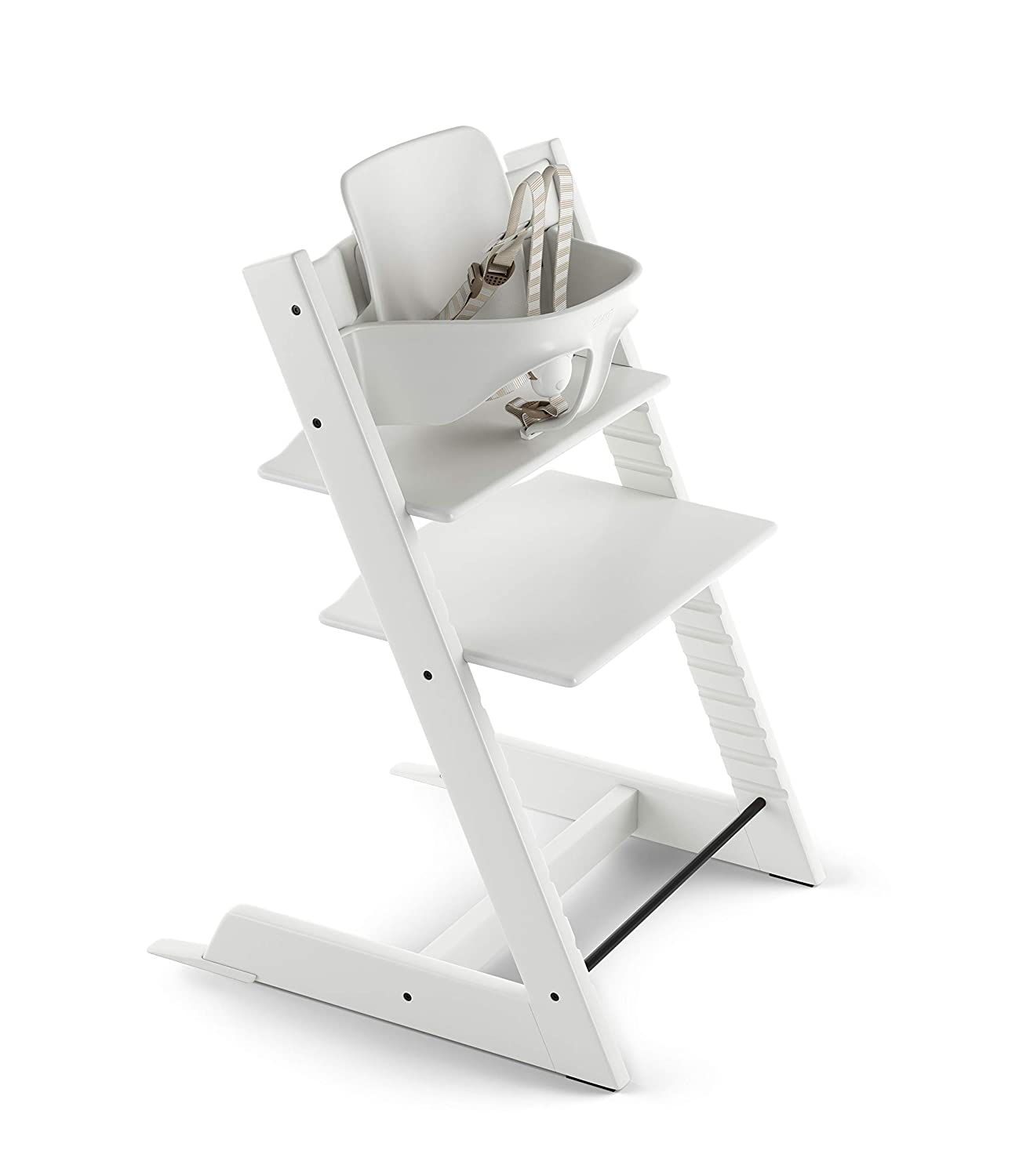 B001D150W8 Tripp Trapp by Stokke Adjustable White Baby High Chair (Includes Baby Seat with Harness) 71QM27KaMUL
