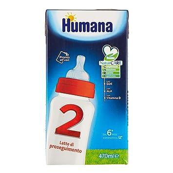 Amazon.com: Lait Di Proseguimento Con Prebiotici Gos Humana 2 - 1 Slim Pack Da 470 Ml: Health & Personal Care
