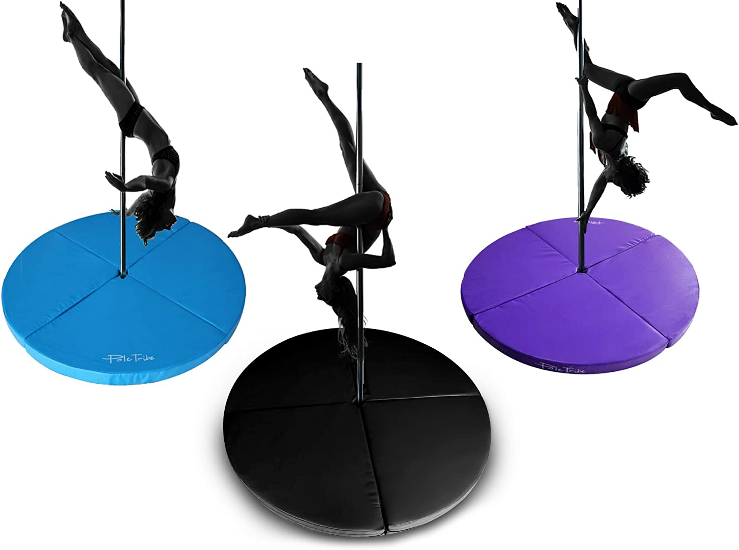 Extra Thick Violet Pole Dancing Fitness Mat Spinning Gymnastics Crash Safety Pad