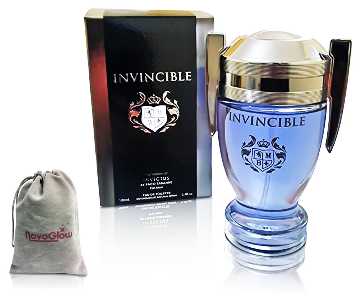 Invincible Perfume Eau De Toilette, Impression by Mirage Brands, 3.4 fl oz 100 ml - Long-Lasting Fragrance To Rock Every Occasion with a NovoGlow ...