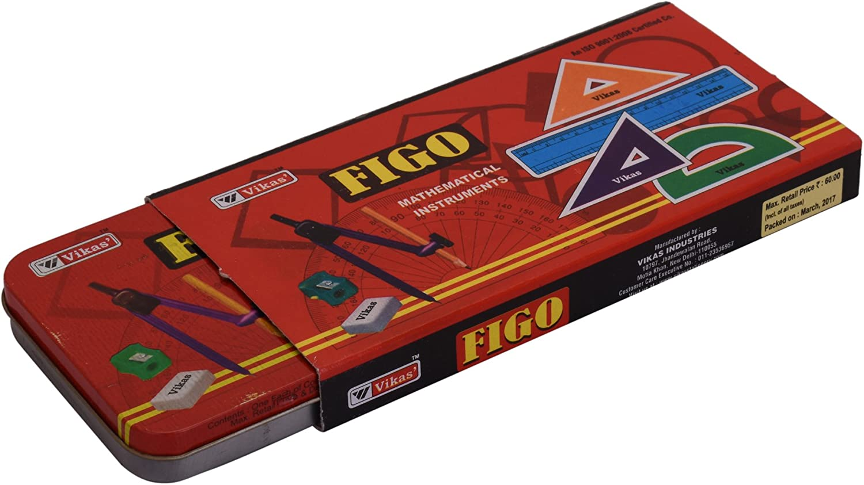 G-Compass Ezee Multicolor Geometry Box Mathematical Drawing Organizer Set Compass Kids School Carry Tool Kit