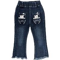 Peacolate 2-10T Little Big Kids Girls 3D Butterfly Jeans Pantalones de Mezclilla