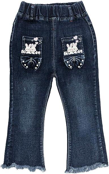 2-10T Little/&Big Kids Girls 3D Butterfly Jeans Denim Pants