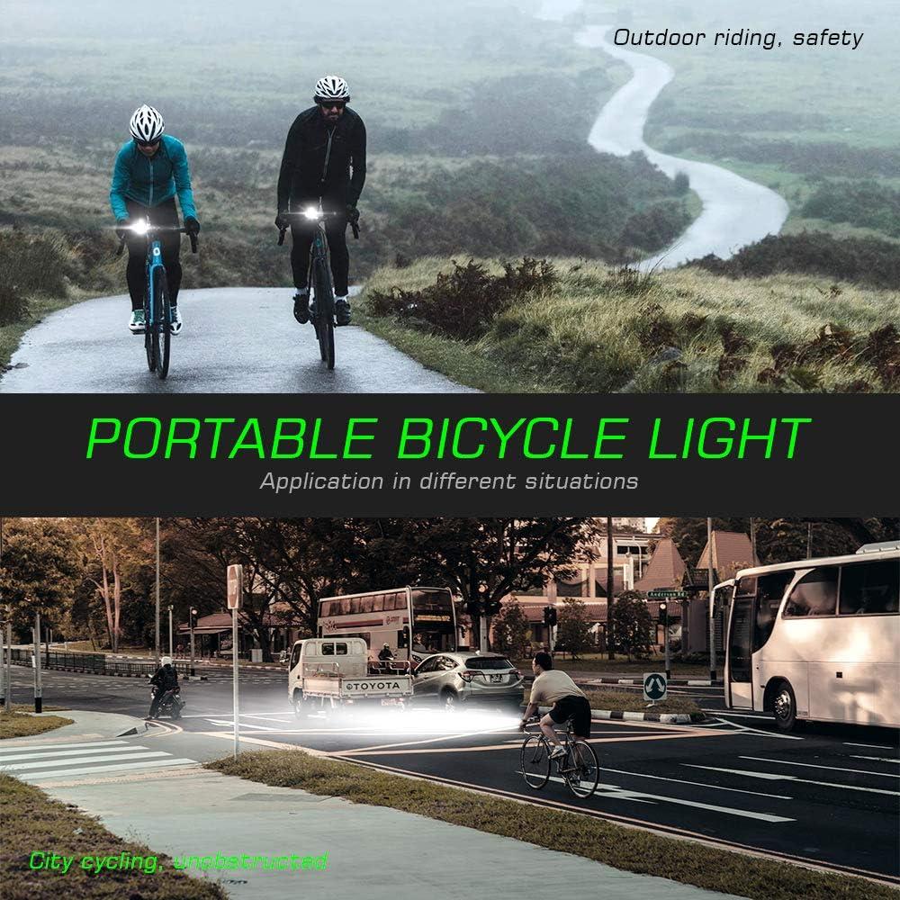 Novsight Bike Lights Set 800 Lumens Headlight and Rear Light 2600 mAh Battery,Easy Installation for Mountain Bike and Commuter Bike Rechargeable Bike Front and Back IP65 Waterproof 5 Light Models