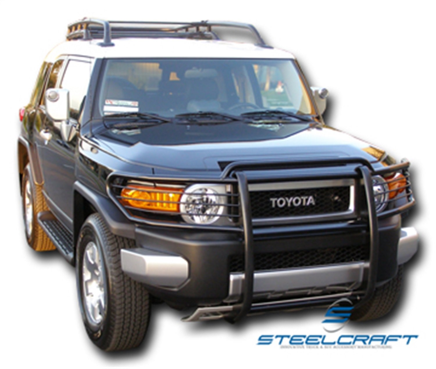 Steelcraft 53300 Black 1 Piece Grille Guard for Toyota FJ Crusier