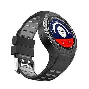 PRIXTON SWB36 Montre connectée avec GPS, Boussole, baromètre, Fente pour SIM, Noir