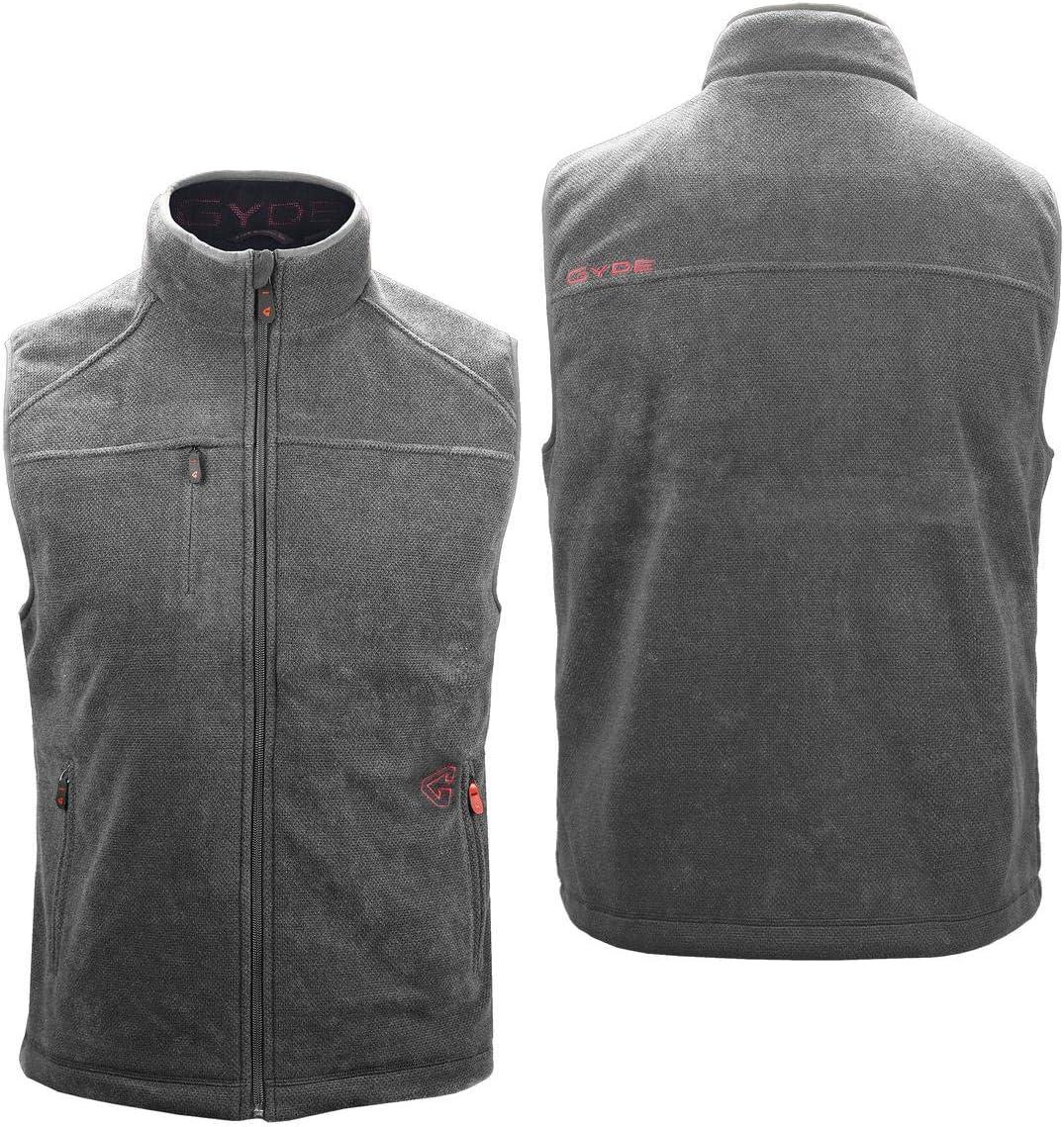 7V Battery Gerbing Gyde Thermite Fleece Heated Vest for Men Grey