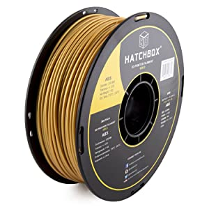 HATCHBOX ABS 3D Printer Filament, Dimensional Accuracy +/- 0.05 mm, 1 kg Spool, 3.00 mm, Gold
