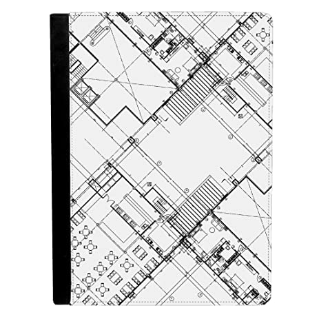 Amazon image of architecture blueprint drawing of a building image of architecture blueprint drawing of a building plans apple ipad pro 97 inch leather flip malvernweather Choice Image