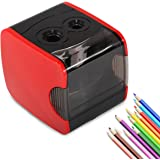 Electric Pencil Sharpener, Heavy Duty Automatic Pencil Sharpeners, Corded or Battery Operated Best for No.2 and Colored Pencil in School Classroom Office