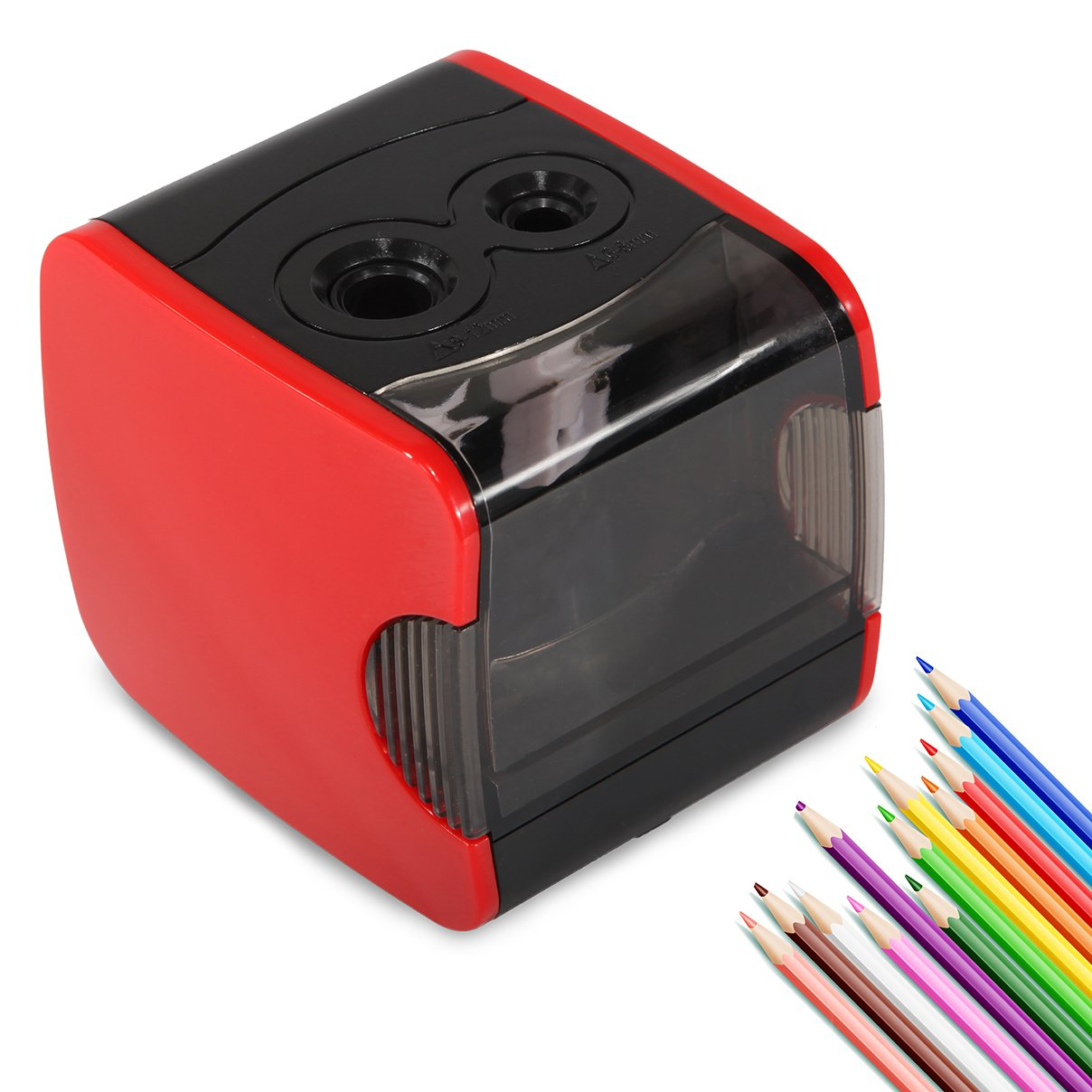 DCLYSI Electric Pencil Sharpener,Heavy Duty Automatic Pencil Sharpeners Electric USB or Battery Operated Small Pencil Sharpener for Kids, Artist, Student and Office by DCLYSI