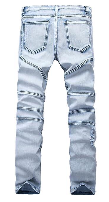 JIINN Herren Pants Hose Denim Jeans Stretch Regular Fit