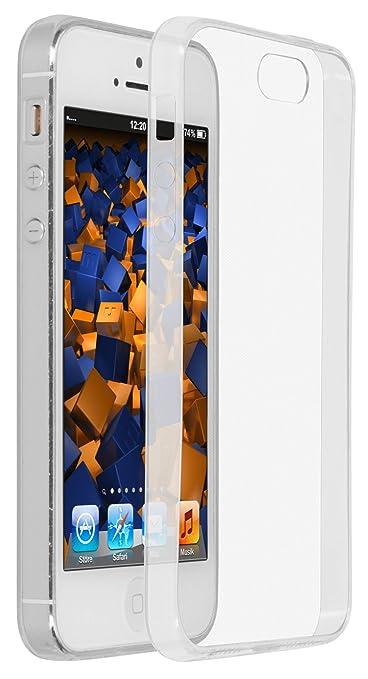 mumbi UltraSlim Hülle für iPhone SE 5 5S Schutzhülle transparent (Ultra Slim - 0.55 mm)