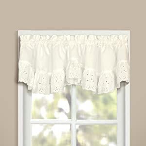 American Curtain and Home Deanna Window Treatment Valance, 60-Inch by 12-Inch, Natural