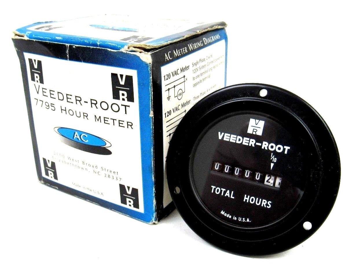 Amazon.com: New VEEDER Root 779516-201 Hour Meter 779516201 ... on