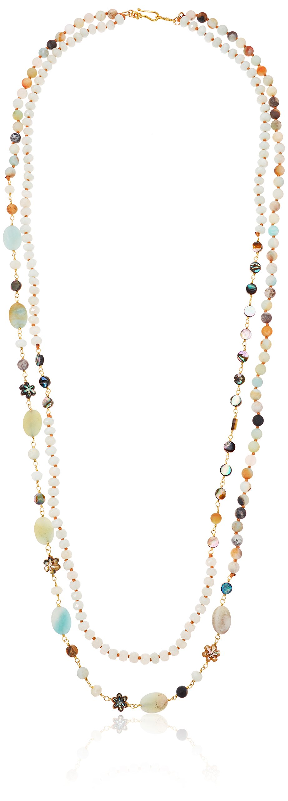 Chan Luu Double Layer Stone Strand Necklace, 33''