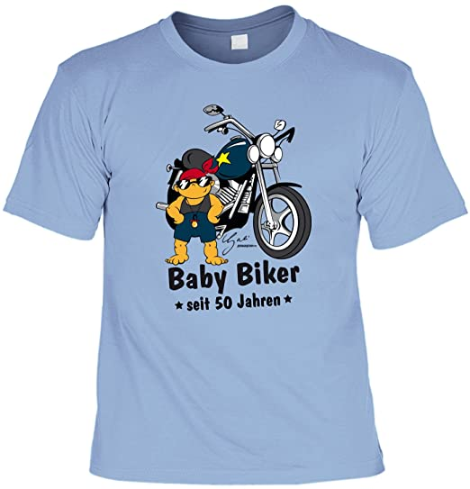 Lustiges Biker Herren T Zum 50 Geburtstag Baby Biker Seit 50 Jahren