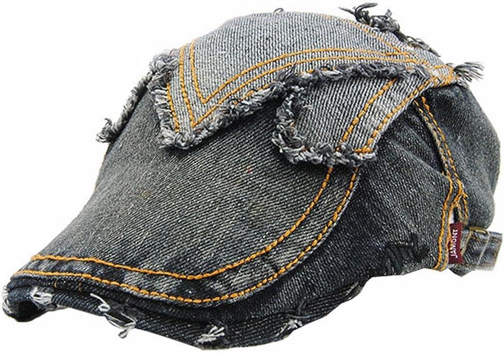 519af374f89a Cotton Flat Cap Duckbill Hat Newsboy Ivy Irish Cabbie Scally Gatsby Driver  Golf Hat at Amazon Men's Clothing store: