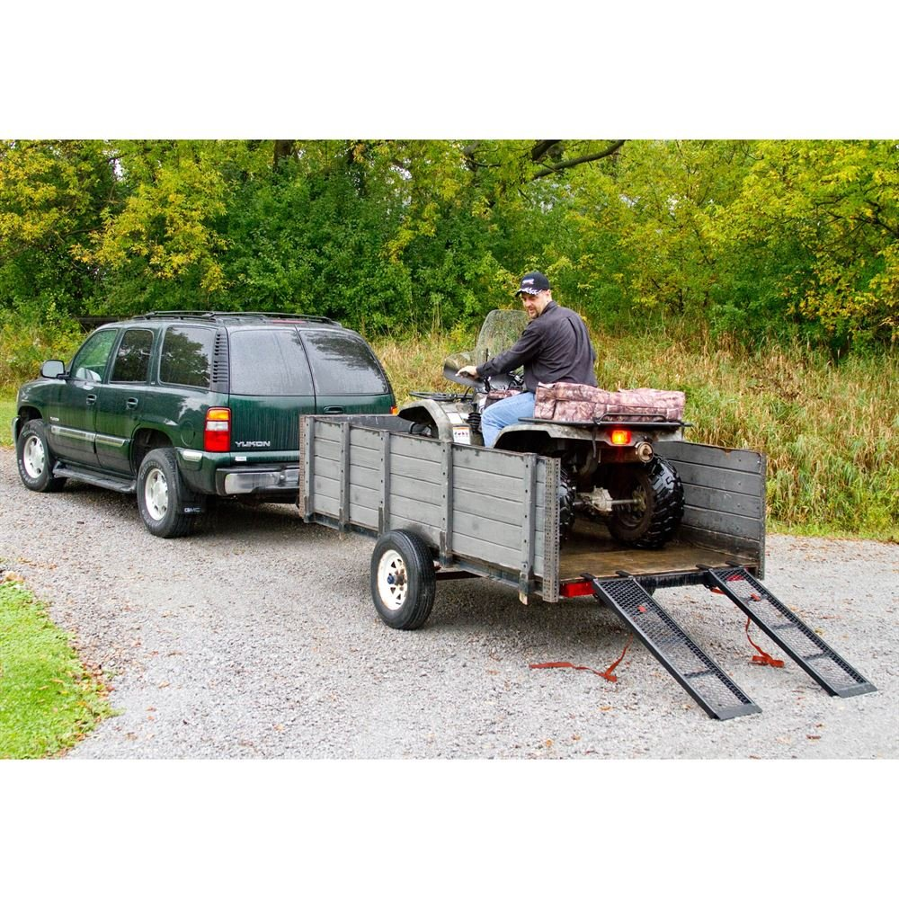 Rage Powersports ST-4811-1600-M-V2 Steel ATV Trailer Ramp (48.5'' Black, Pair) by Black Widow (Image #3)
