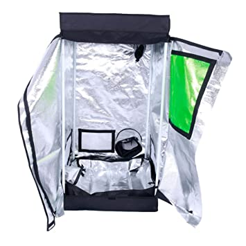 Oshion 2x2x4 Feet Small Indoor Mylar Hydroponics Grow Tent Room (24u0026quot;x ...  sc 1 st  Amazon.com & Amazon.com : Oshion 2x2x4 Feet Small Indoor Mylar Hydroponics Grow ...
