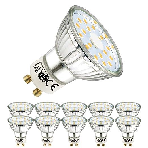 GU10 6W led lamp EquIvalent 50W halogen lamp warm white 6000K 10-Pack