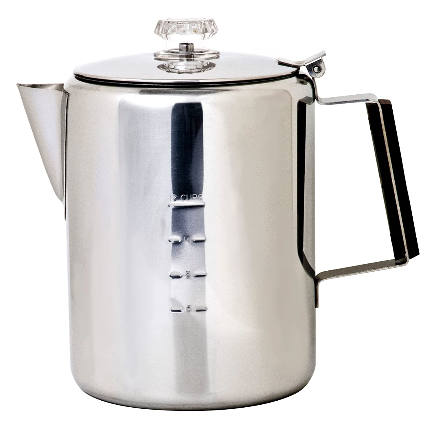 Chinook 41125 Timberline Coffee Percolator, Stainless Steel, 12 Cup