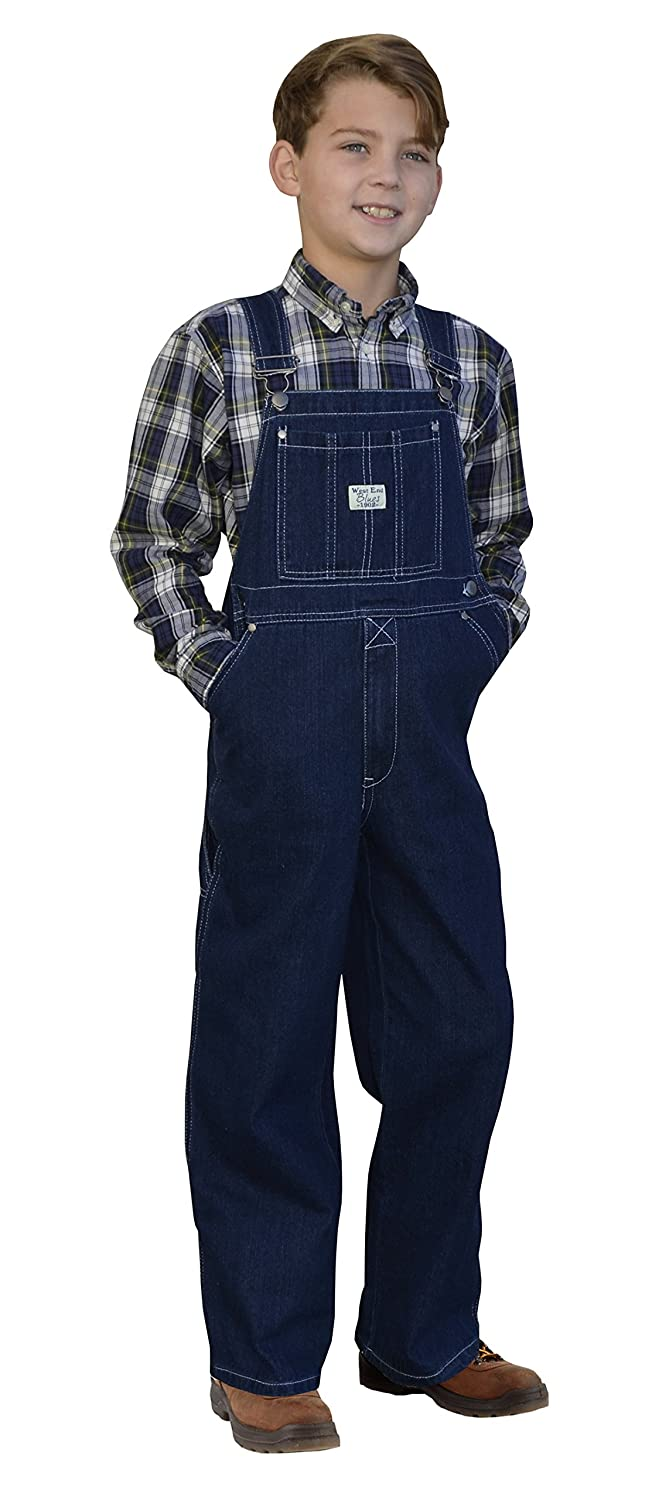 Kids 1950s Clothing & Costumes: Girls, Boys, Toddlers West End Blues Big Boys Kids Soft Washed Denim Bib Overall $24.99 AT vintagedancer.com