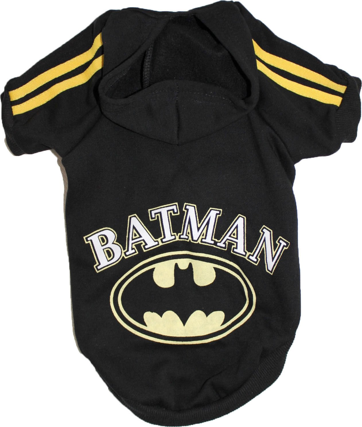 FunnyDogClothes Dog Puppy Cat Coat Sweater Hoodie BATMAN For SMALL Breeds XXS- L (S: Length 11'' Chest up to 14'')