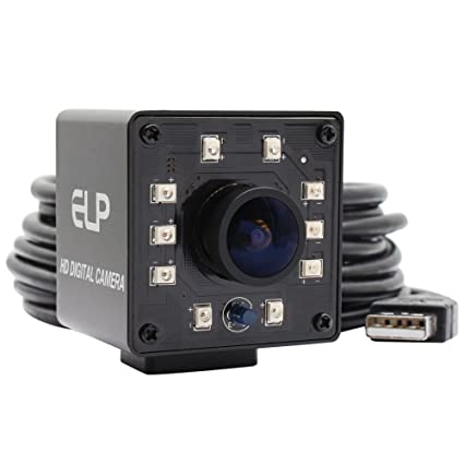 ELP Camera USB 1080P Wide Anagle Fisheye 170degree IR LED Infrared Webcam  Camera with Mini Housing USB Camera for Linux Windows Android Mac Os