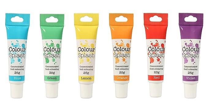 Colour Splash Food Colouring Gel (Rainbow Colours 6 Set)