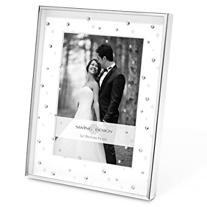 Amazon.com - Swing Design Celia Picture Frame, 5 by 7-Inch, Silver ...