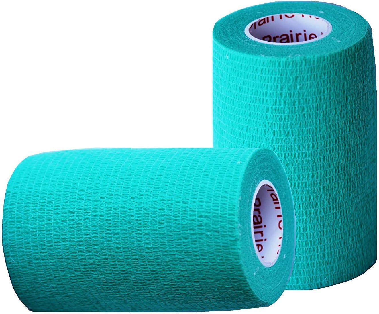 Self-Adhesive Self Adherent Adhering Flex Bandage Rap Grip Roll for Dog Cat Pet Horse 6, 12, 18, or 24 Packs 4 Inch Vet Wrap Tape Bulk Assorted Colors
