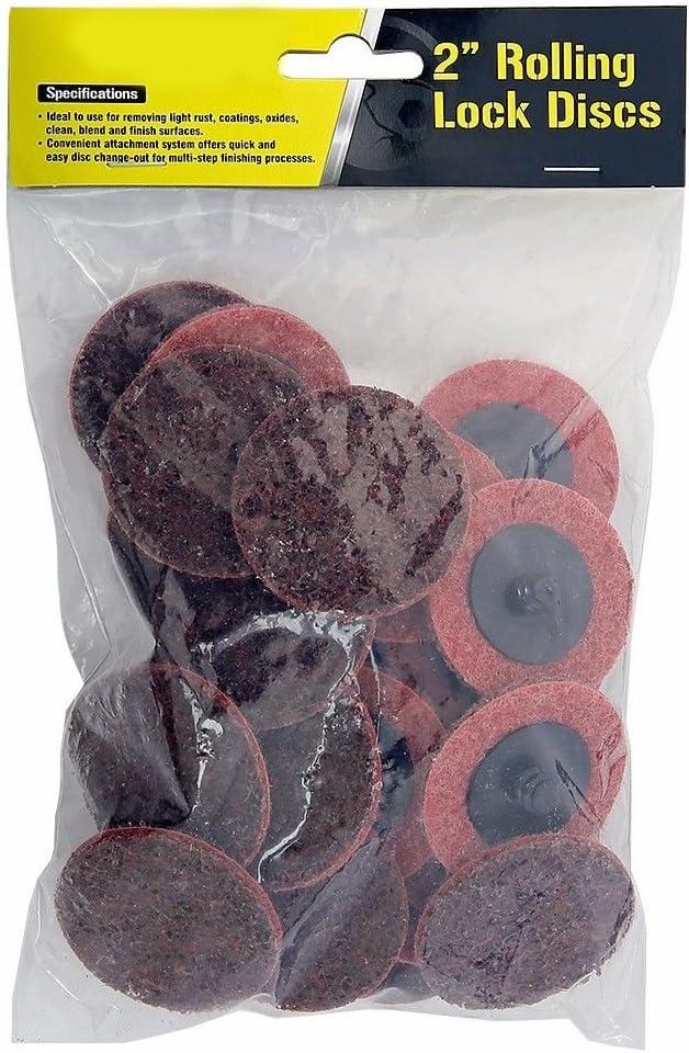 Stark 25-Pack 2 Medium Roloc Sanding Disc Surface Quick Change Roll Lock Conditioning Disc Non-Woven Grit-Medium