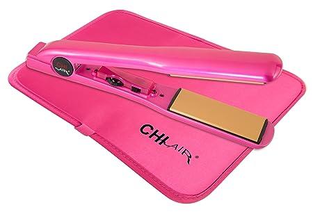 CHI Air Expert Classic Tourmaline Ceramic Hair Straightening Iron, Pure Pink