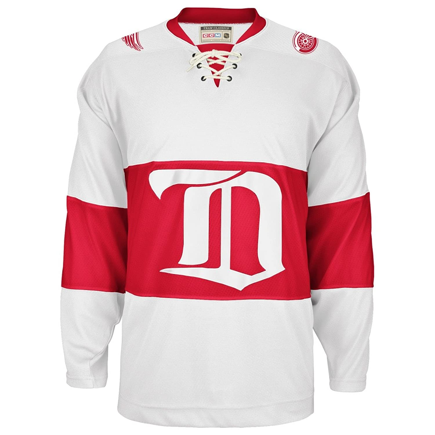 Amazon.com   Detroit Red Wings White Vintage CCM 1926 Jersey (XXL ... 7ae7f8a10