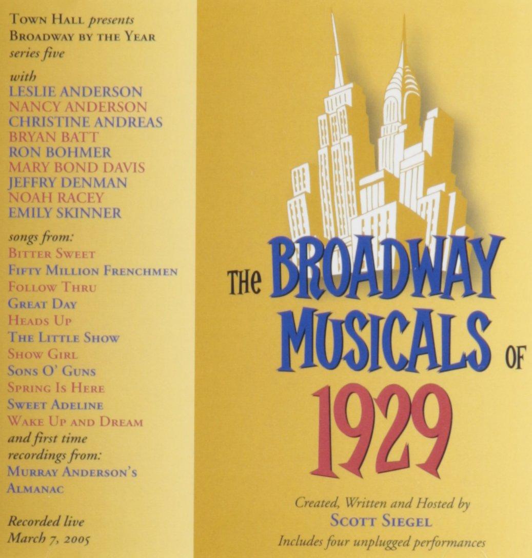 Broadway Musicals of 1929: Original Cast Recording: Amazon.es ...